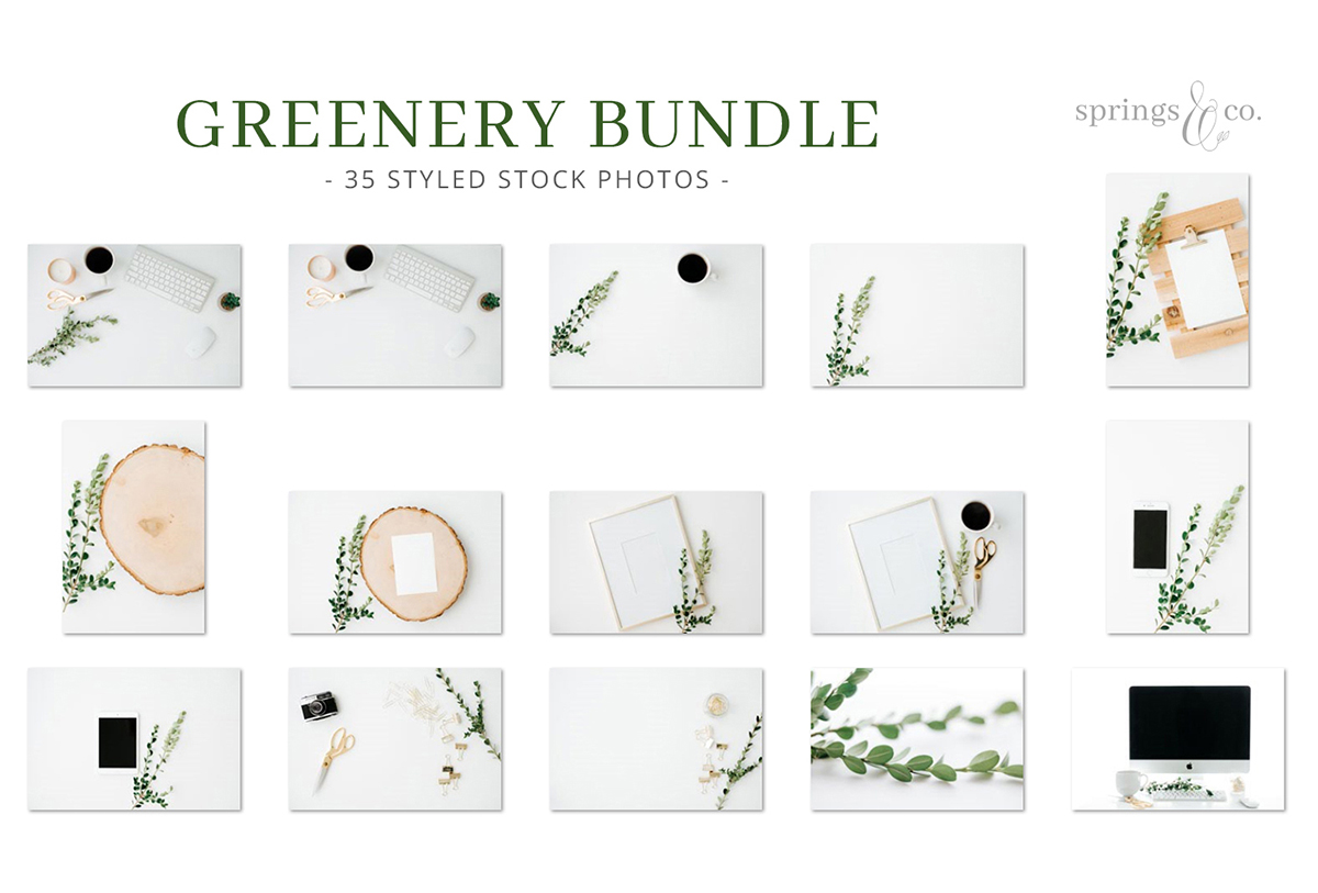 Greenery Styled Stock Photo Bundle example image 2