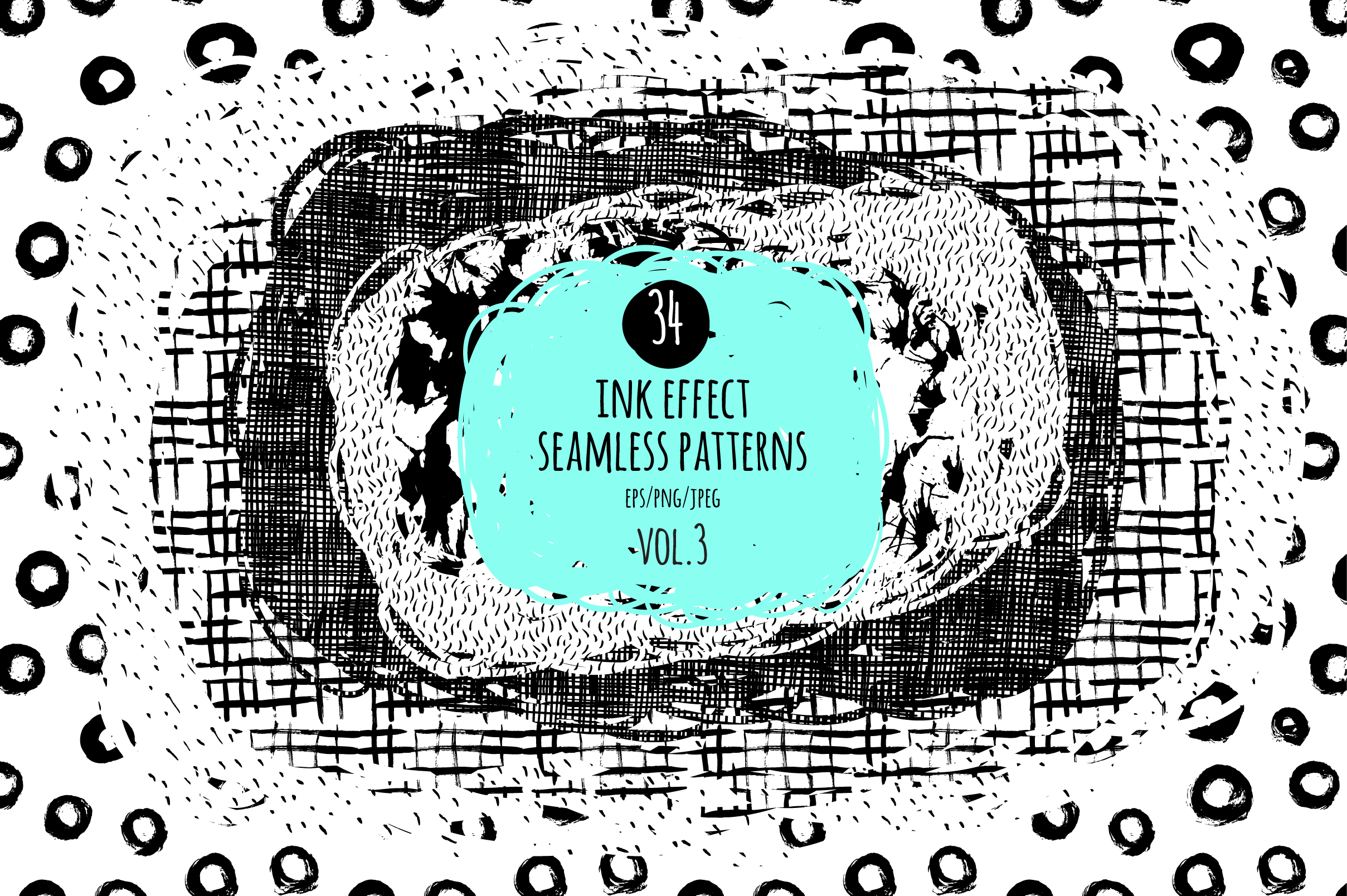 34 ink effect seamless patterns v3 example image 1