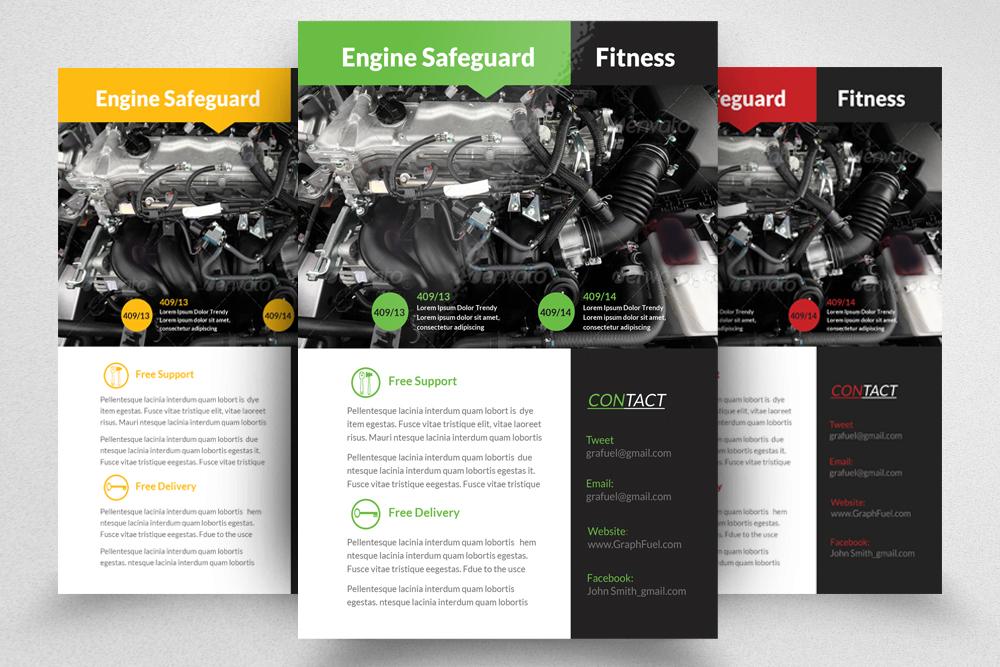 auto repair mechanic flyer template example image 1
