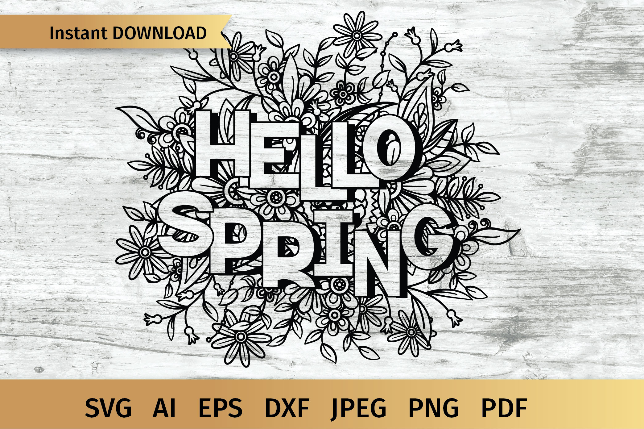 Hello Spring SVG example image 1