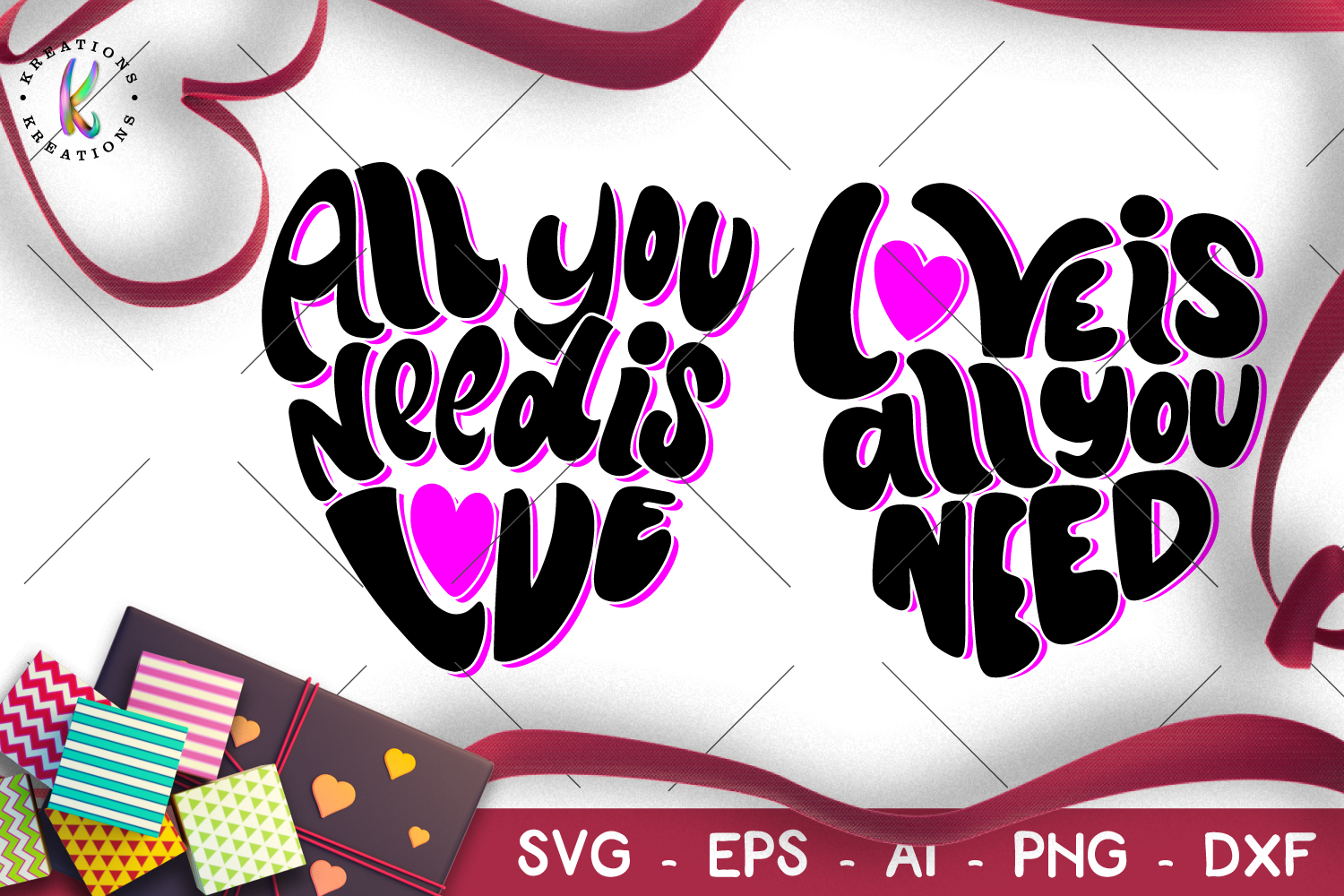 All you need is Love svg Love is all you need svg valentines example image 1