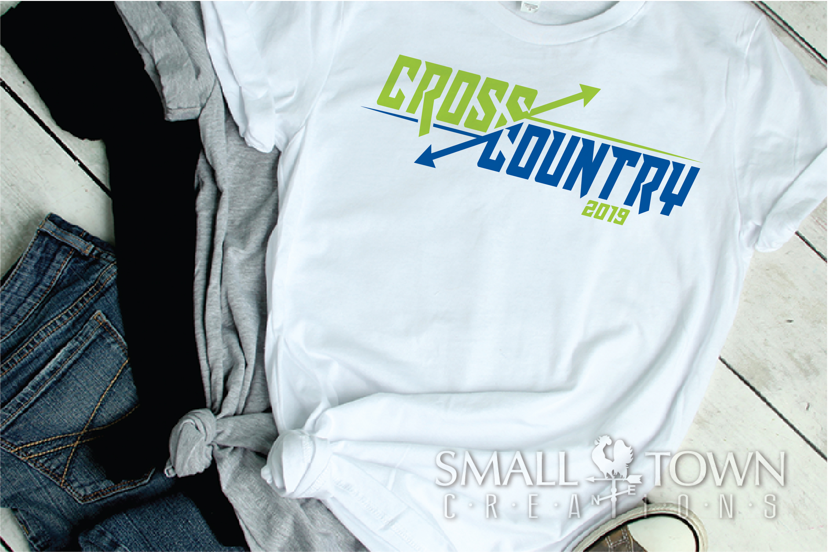 Cross Country, Running logo, Team, PRINT, CUT & DESIGN example image 3