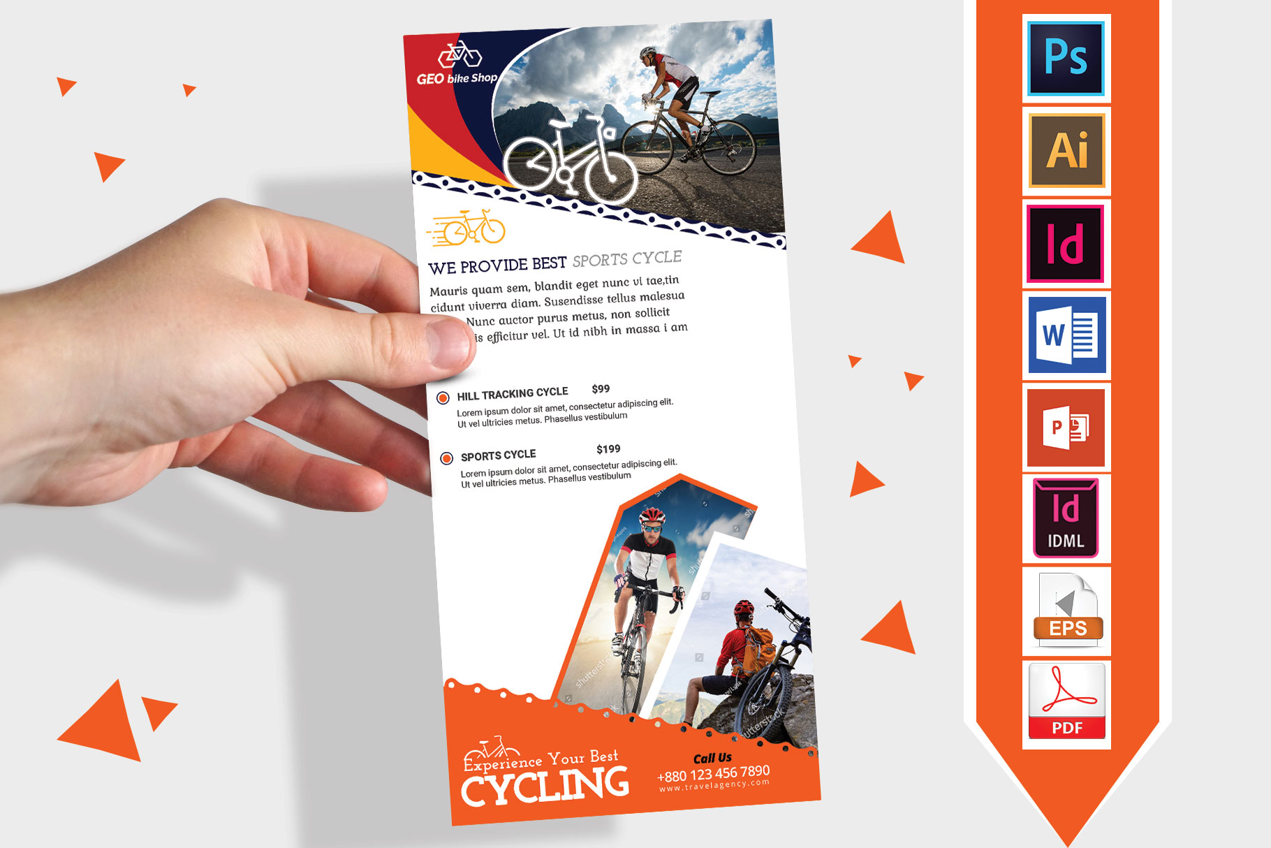 Rack Card | Cycle Shop DL Flyer Vol-02 example image 1