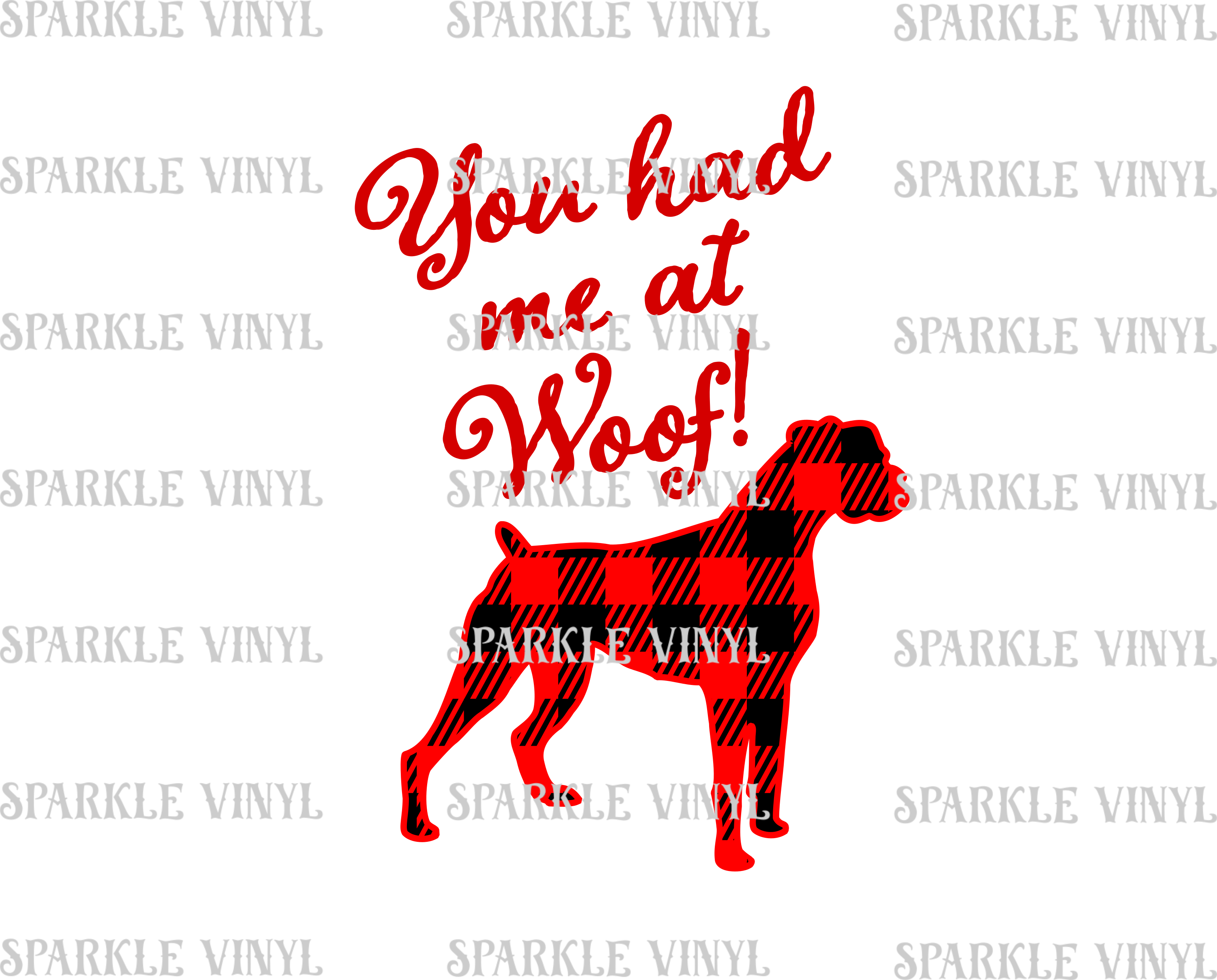 Buffalo Plaid Boxer dog svg, You had me at Woof, Boxer dog gift, Boxer dog, buffalo plaid svg, boxer dog shirt, svg files, for cricut, for silhouette example image 2