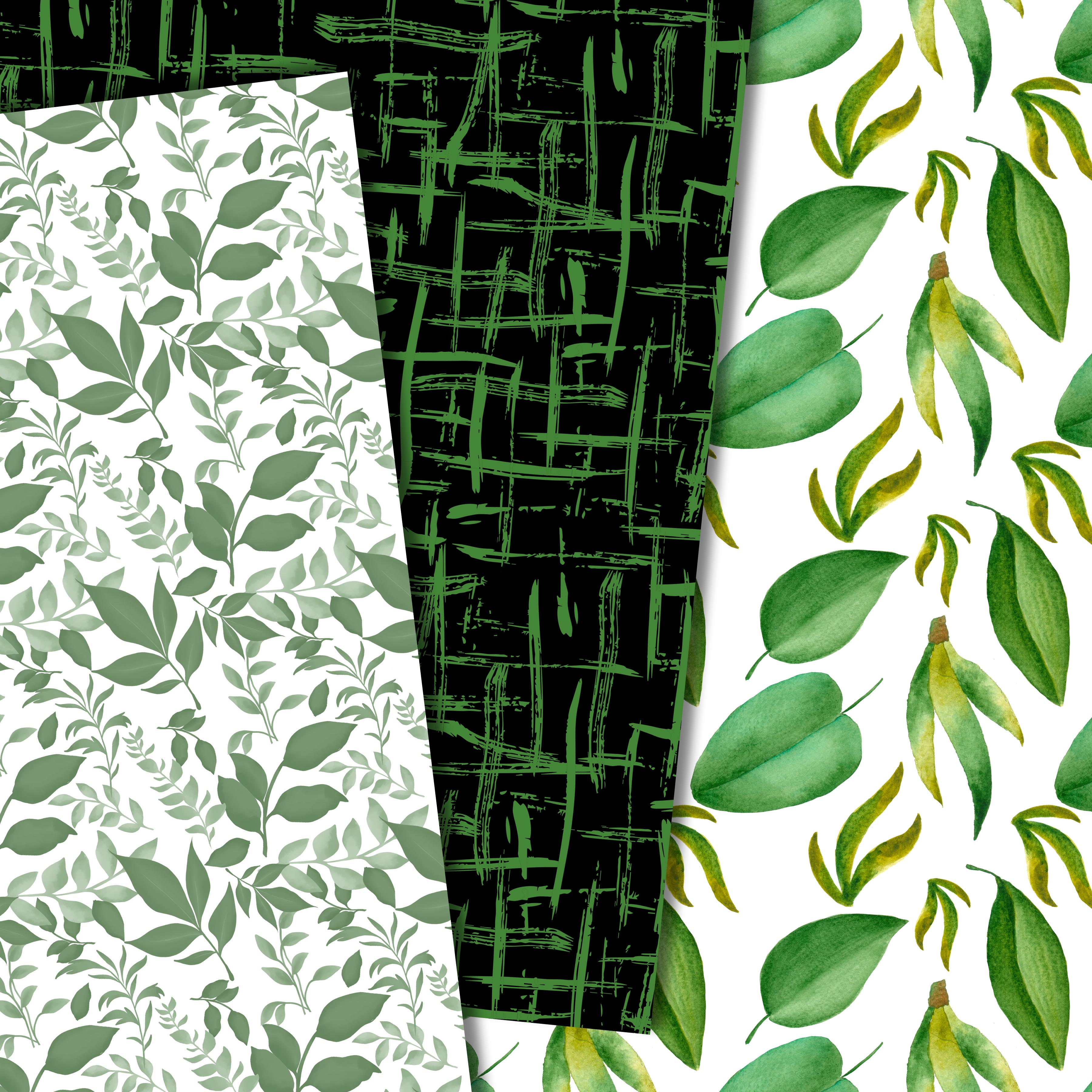 Green leaves paper example image 3