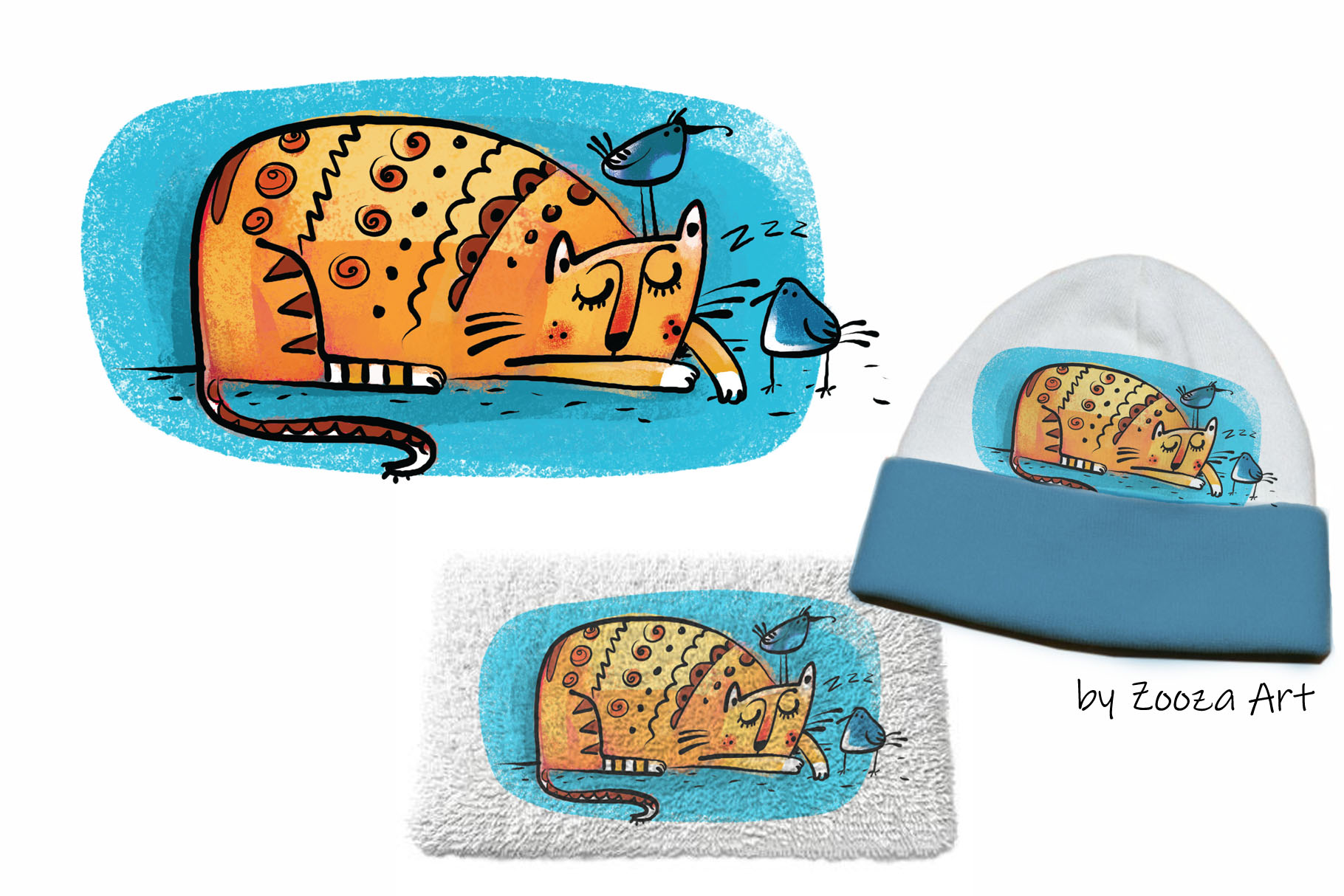 Wild Wild Cat - 14 illustrations example image 4