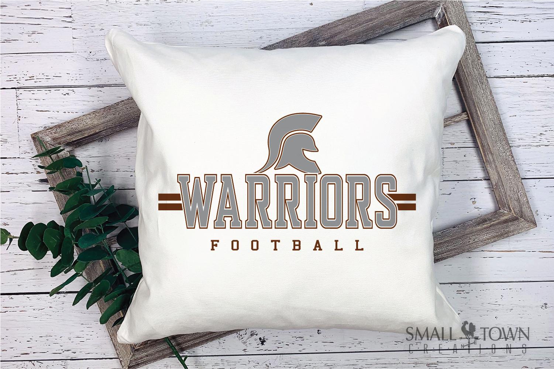Warrior Football, Team, Sports, Logo, PRINT, CUT & DESIGN example image 4