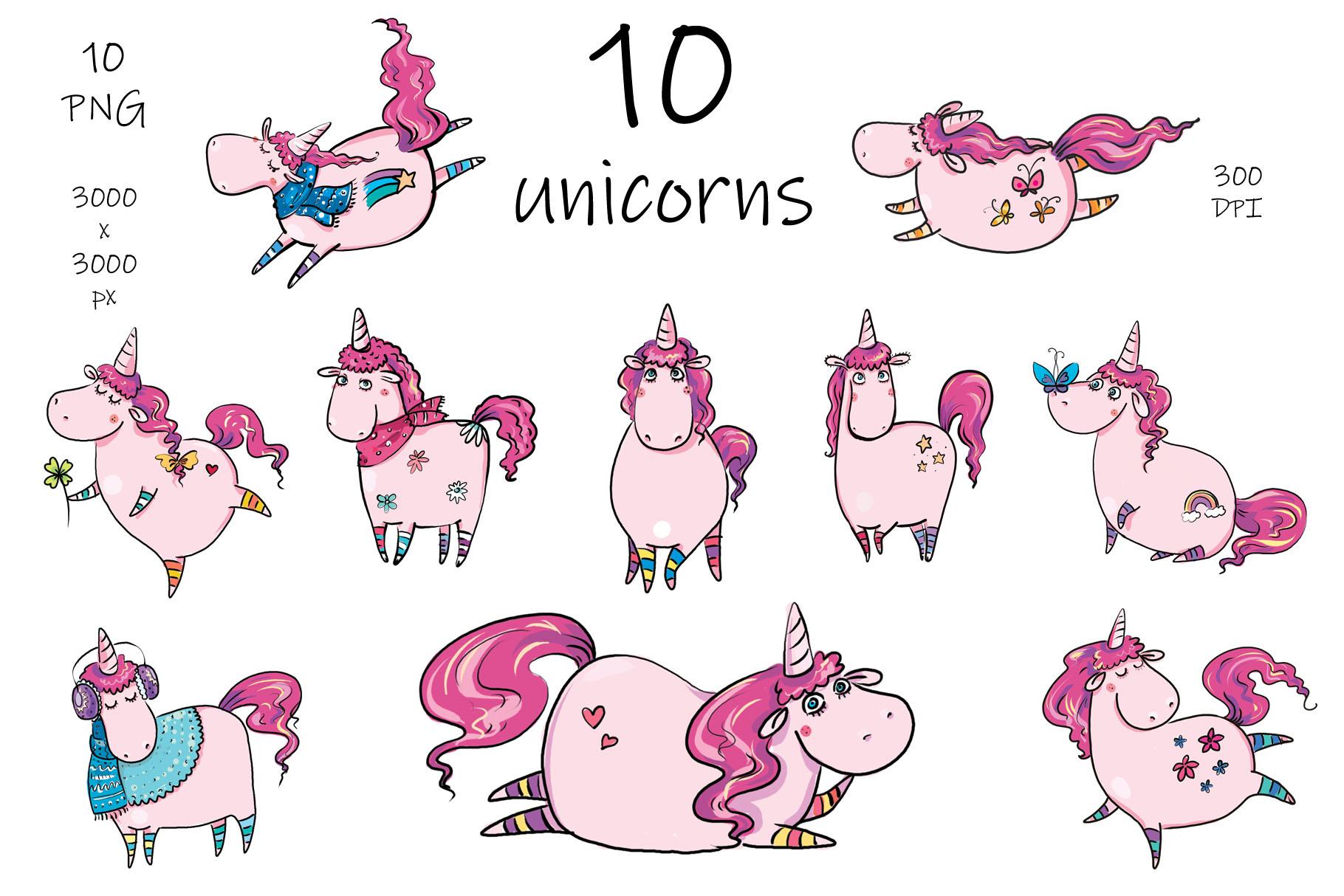 Merry Christmas Unicorn - clip-art example image 2