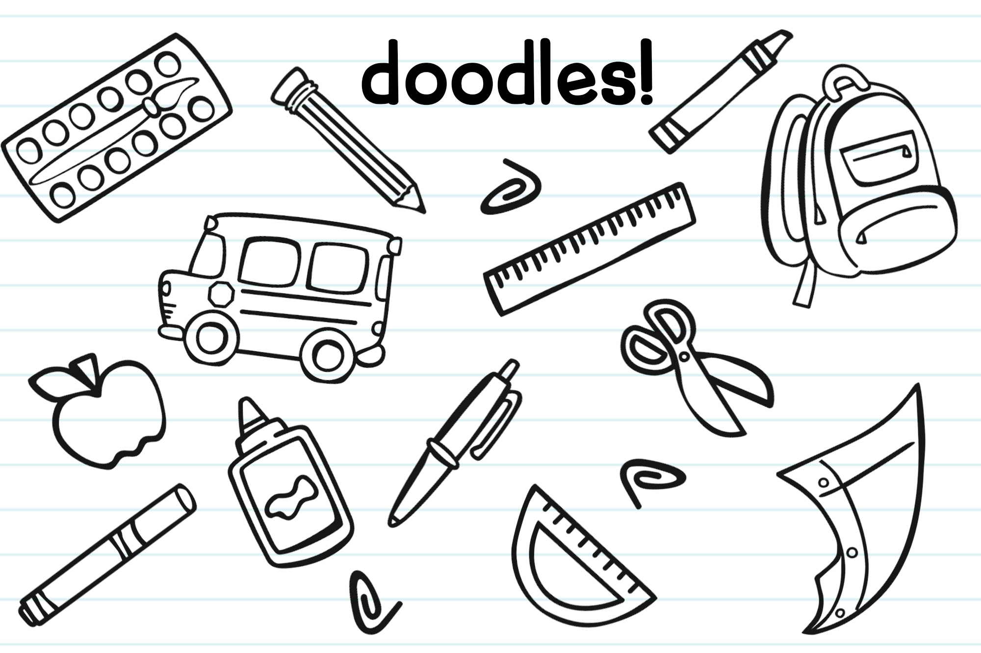 Schoolish| A Cute Back to School Font| With Doodles! example image 3