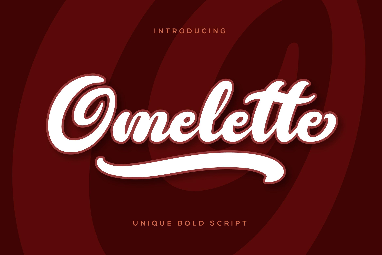Omelette Script Font example image 1