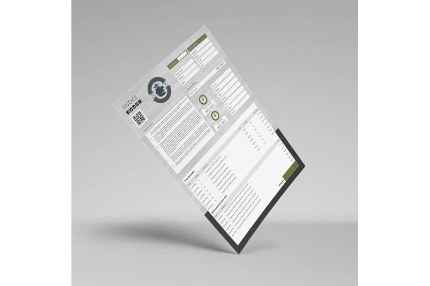 Company Invoice A4 Portrait Template example image 5