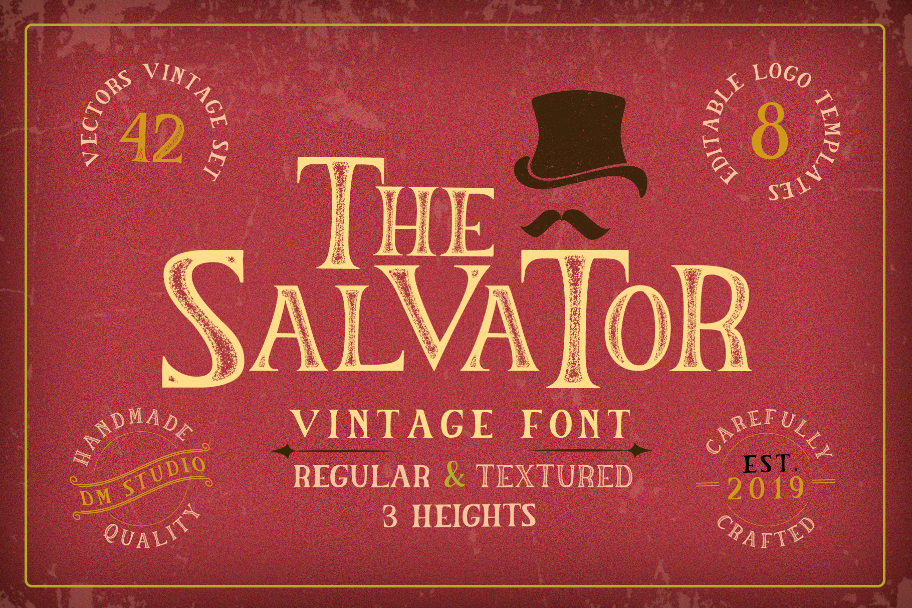 The Salvator - Vintage Font Set example image 1
