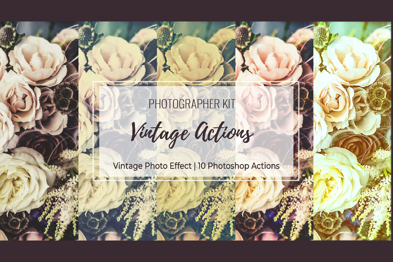 Vintage Photo Effect - 10 PS Actions Kit example image 22