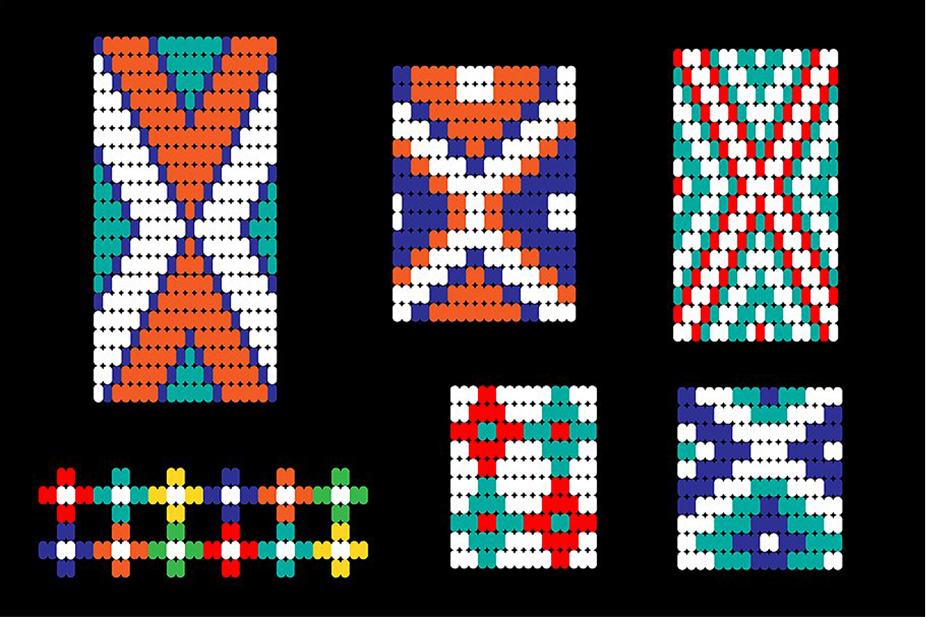 Seamless Tribal Bead Patterns example image 4