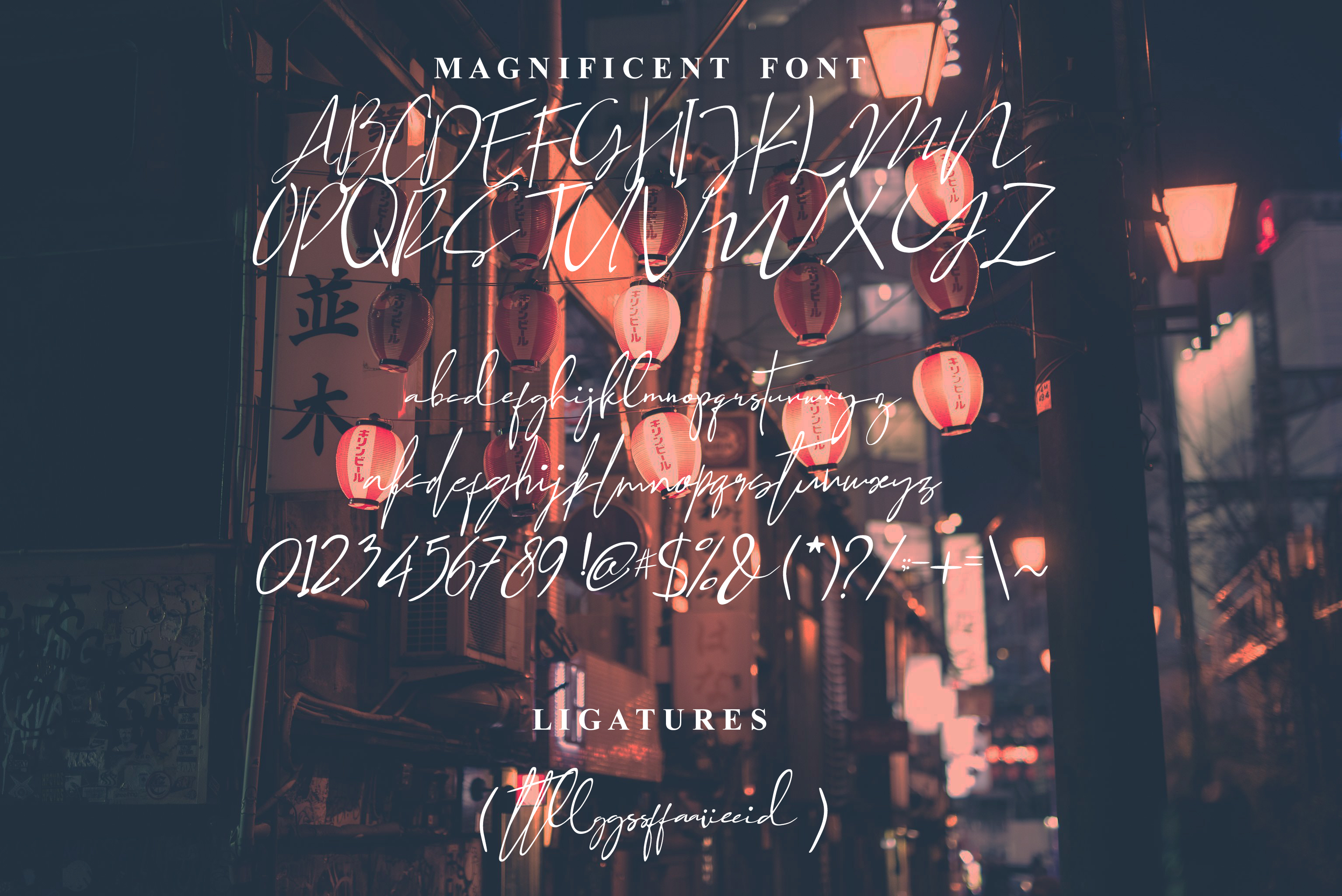 Magnificent Font   example image 2