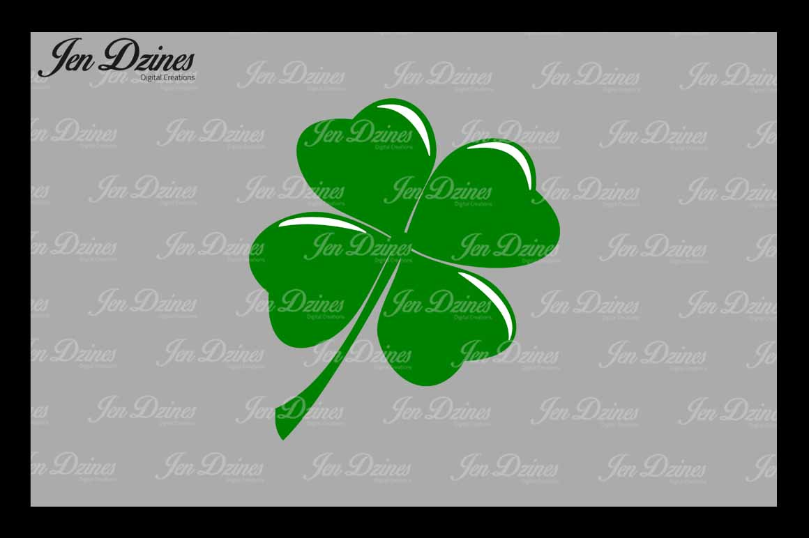 Lucky Clovers SVG DXF EPS PNG example image 4