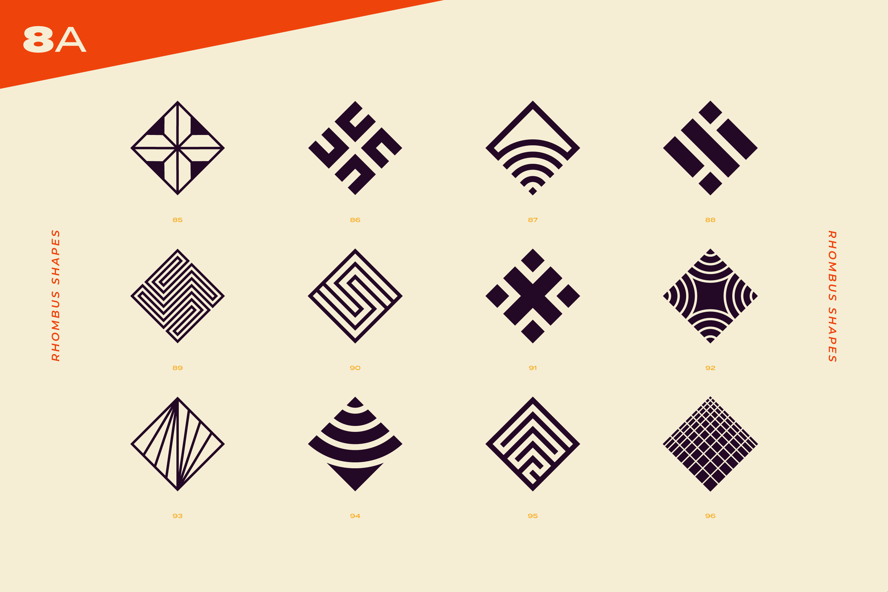 96 Abstract logo marks & geometric shapes collection example image 22