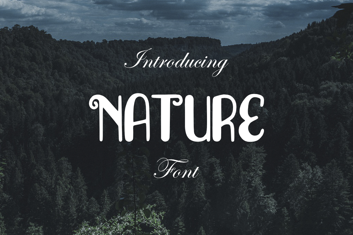 Nature Font example image 1