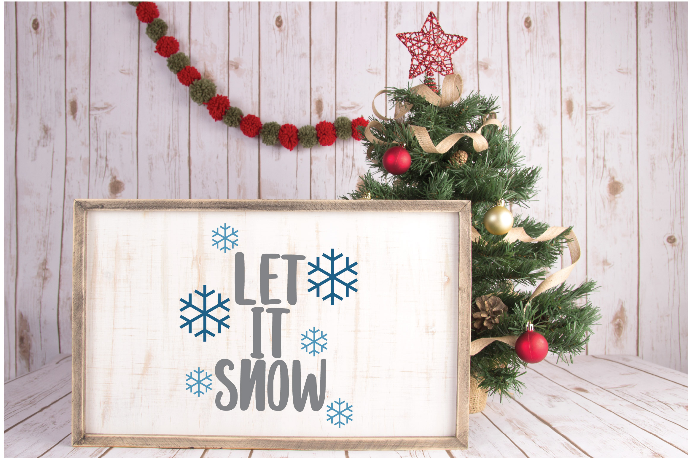 Let it Snow SVG Cut File - Christmas SVG example image 3