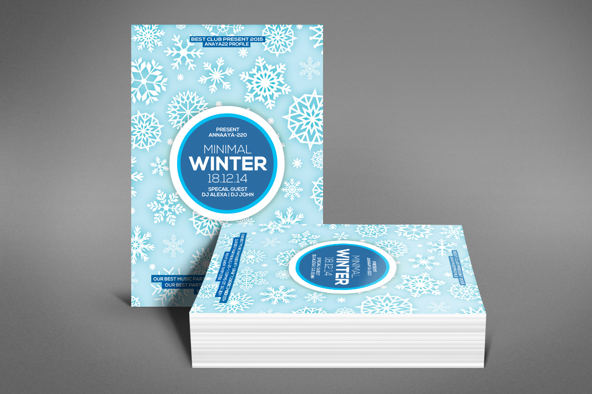 Minimal Winter Party Flyer example image 4