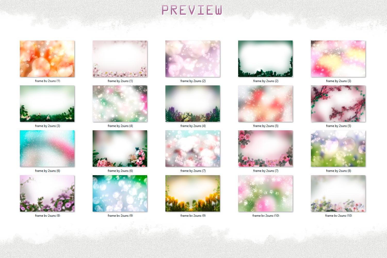 Art flowers overlays frame templates wedding example image 4