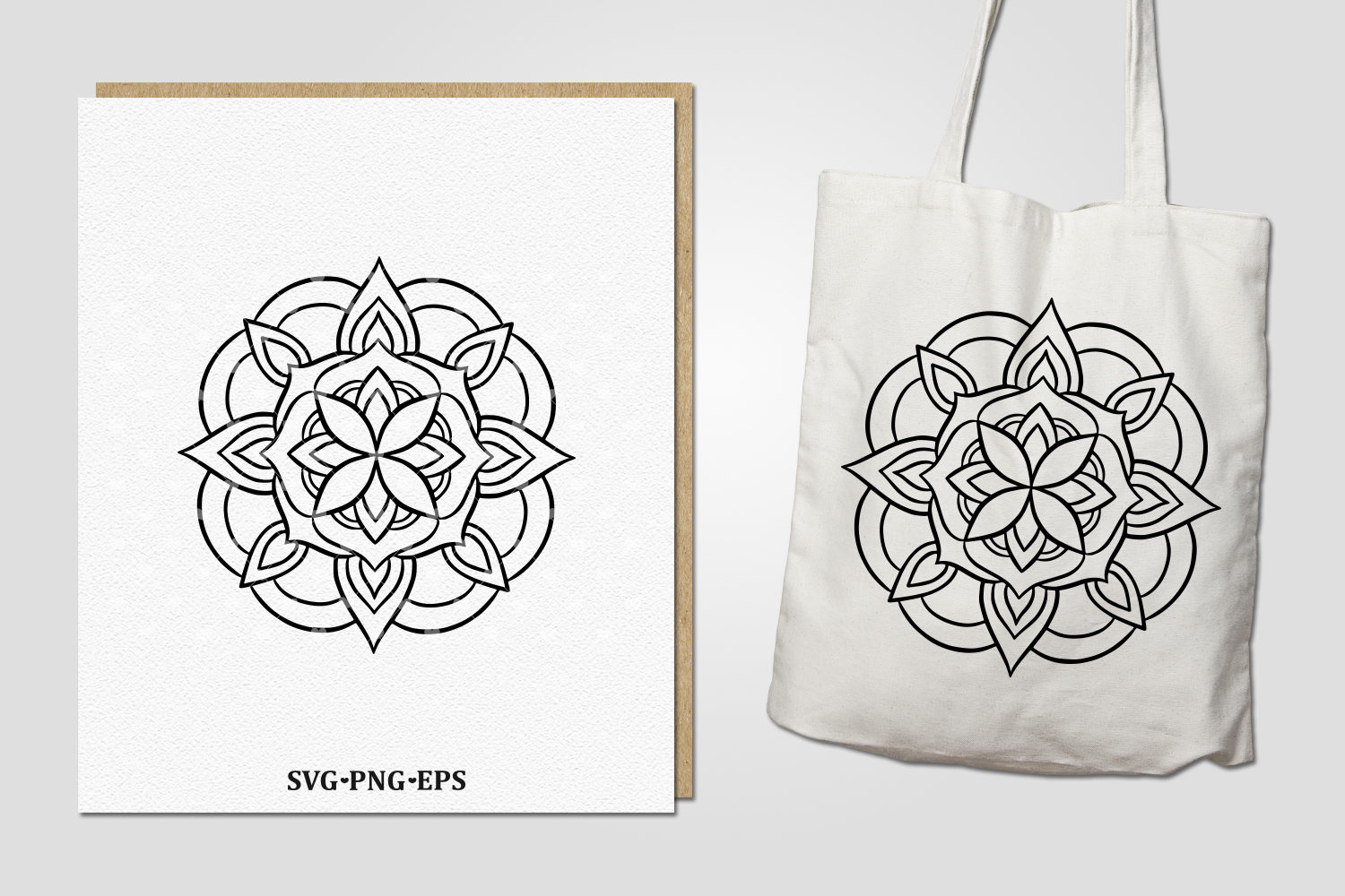 36 hand drawn mandalas. EPS, PNG, SVG Designs example image 5