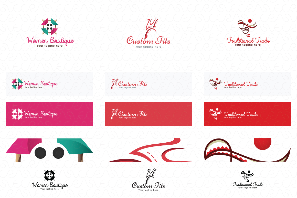 Tailoring & Boutique Logo Templates Pack of 10 example image 4