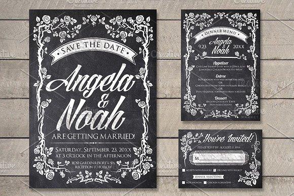 Massive Wedding Invite Bundle Flyer Save Date Bridal Shower  example image 7