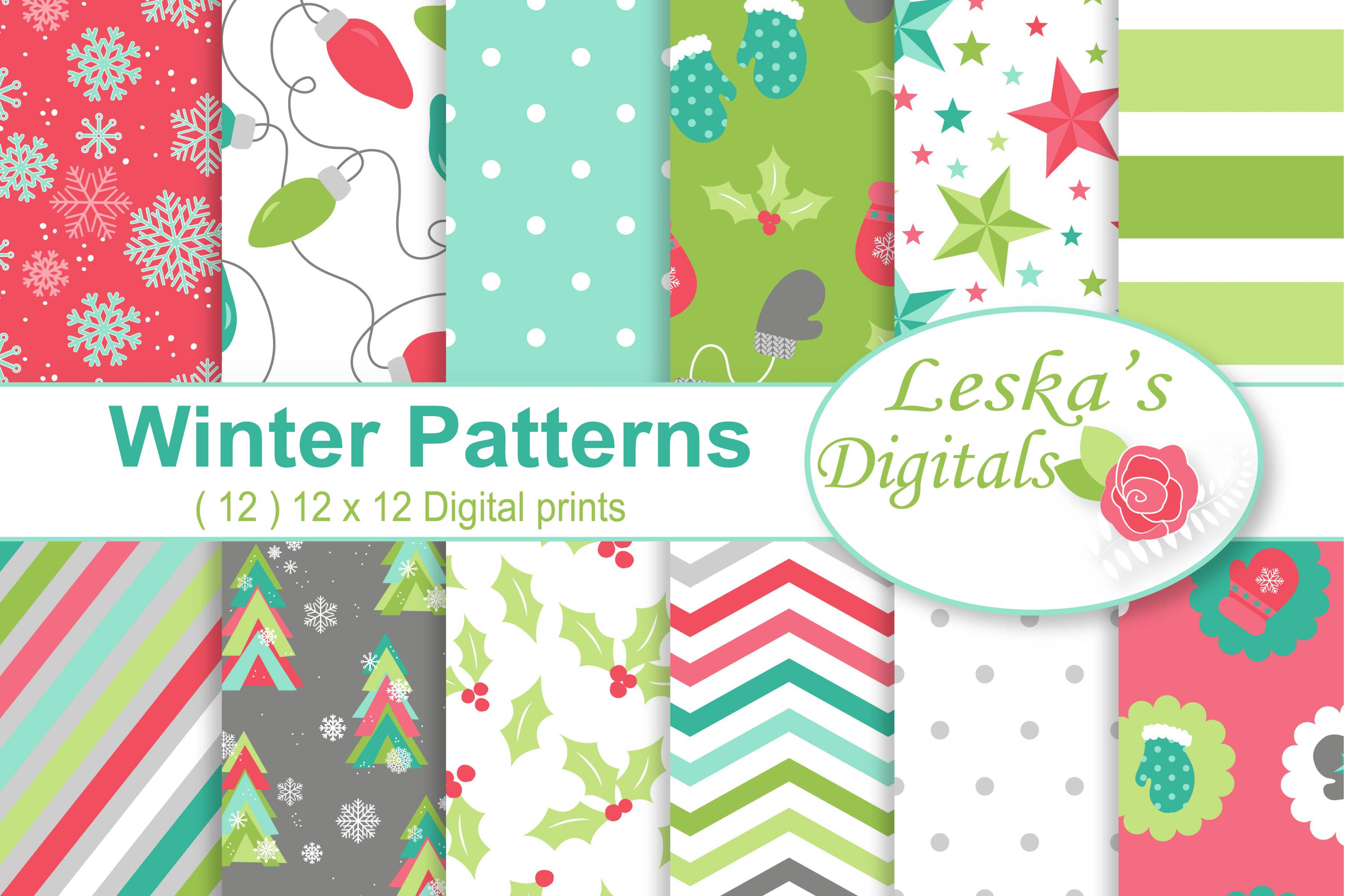 Winter Digital Paper example image 1