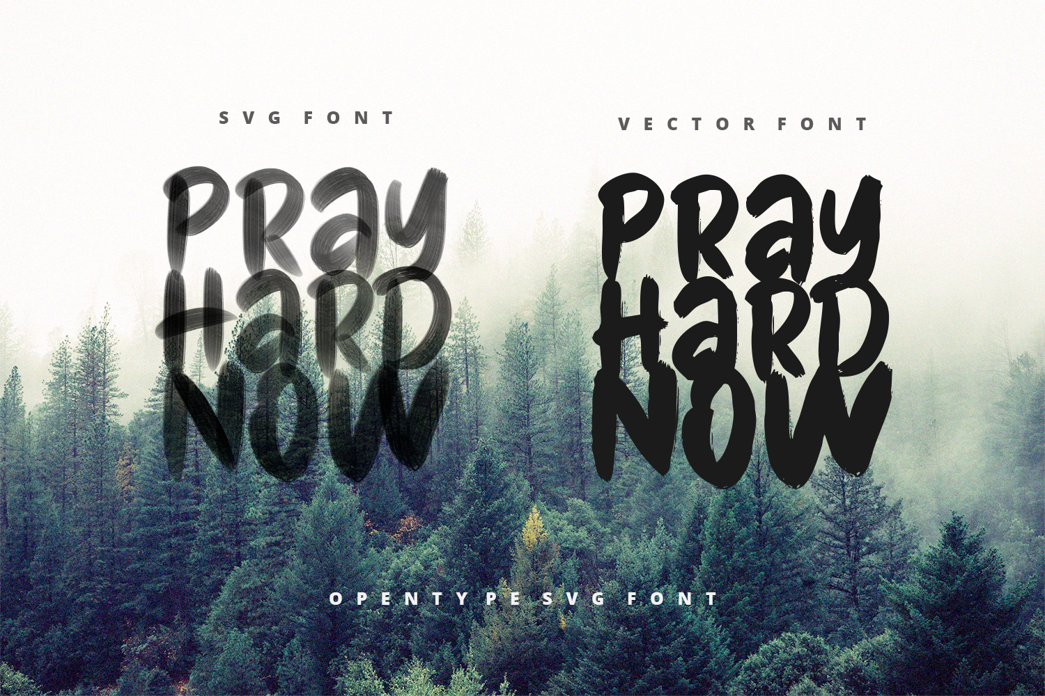Pray Hard Now - 30 OFF - SVG Font example image 3