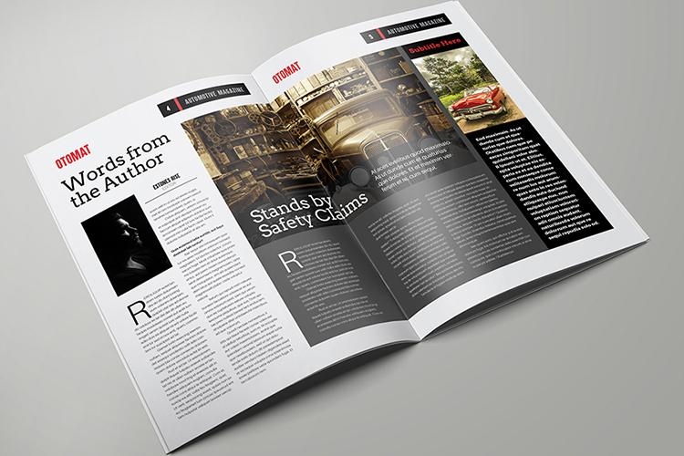 Automotive Magazine Template - Otomat example image 3