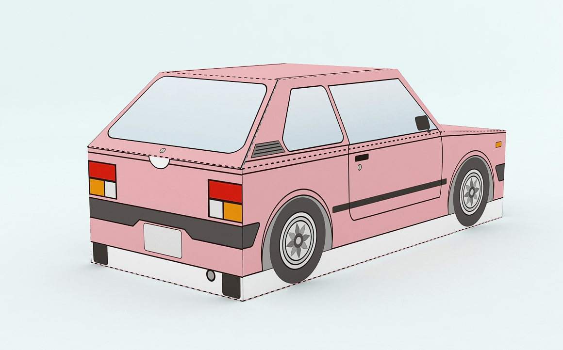 DIY Car Favor - 3d papercraft example image 4