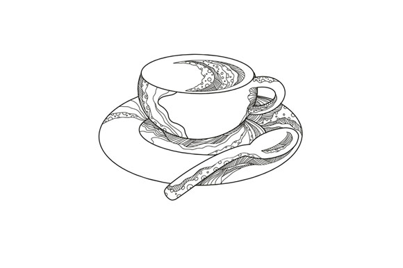 Cup of Coffee Doodle example image 1