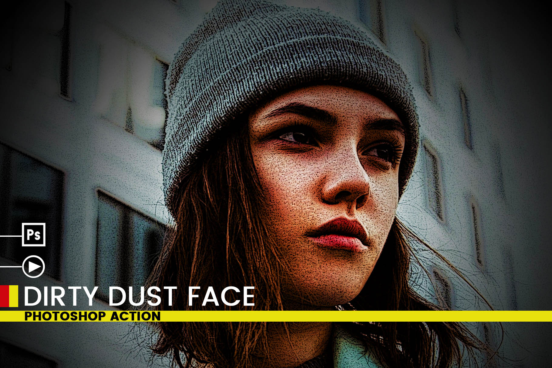 Dirty Dust Face Photoshop Actions example image 3