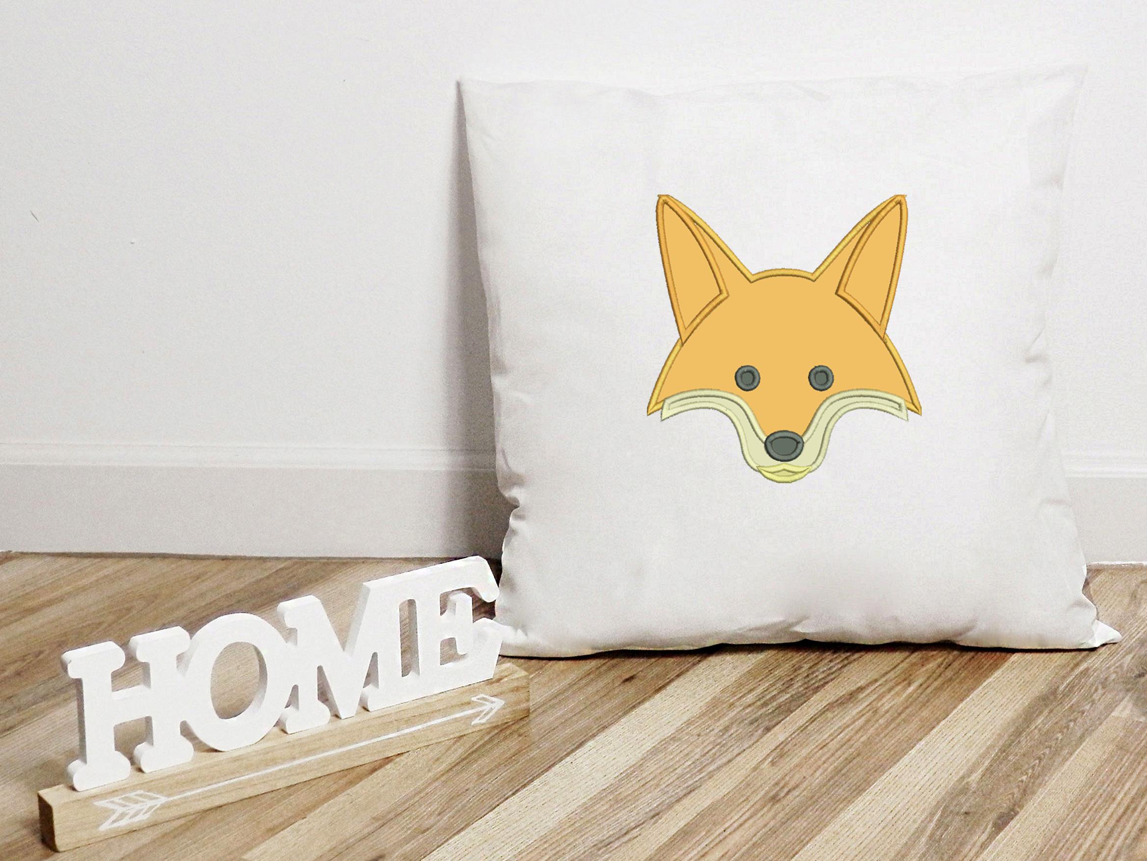 Fox Applique Design, Fox Embroidery Design, Wild Animals example image 5
