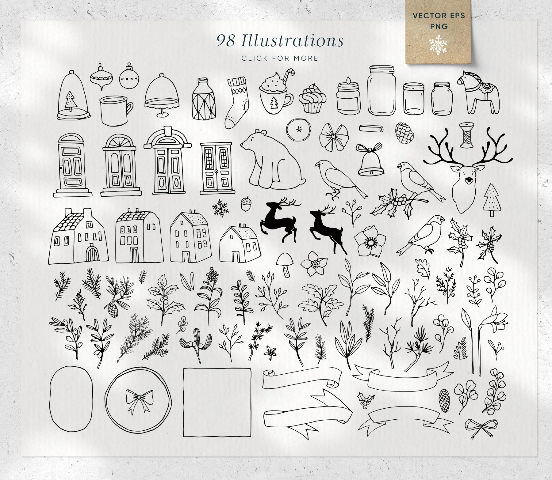 Magic Winter script font duo & logos example image 5