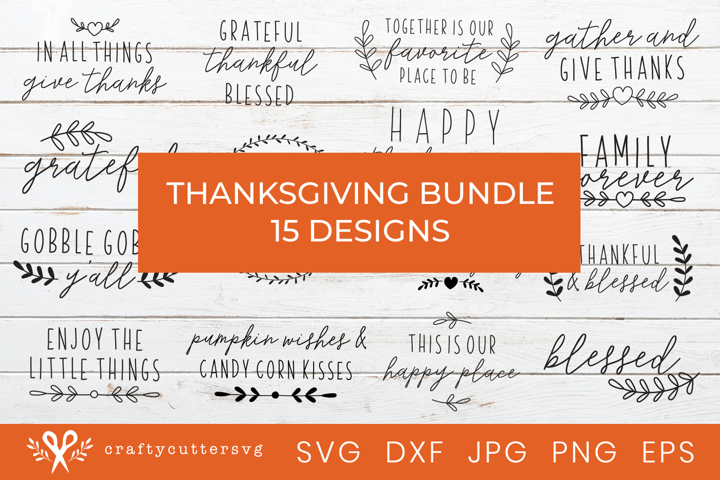 Thanksgiving Svg Bundle Cut Files House Sign Clipart example image 1