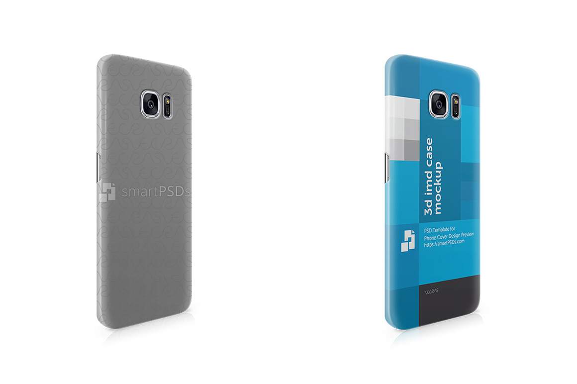 Samsung Galaxy S7 Edge 3d IMD Mobile Case Design Mockup -Right View 2016 example image 1