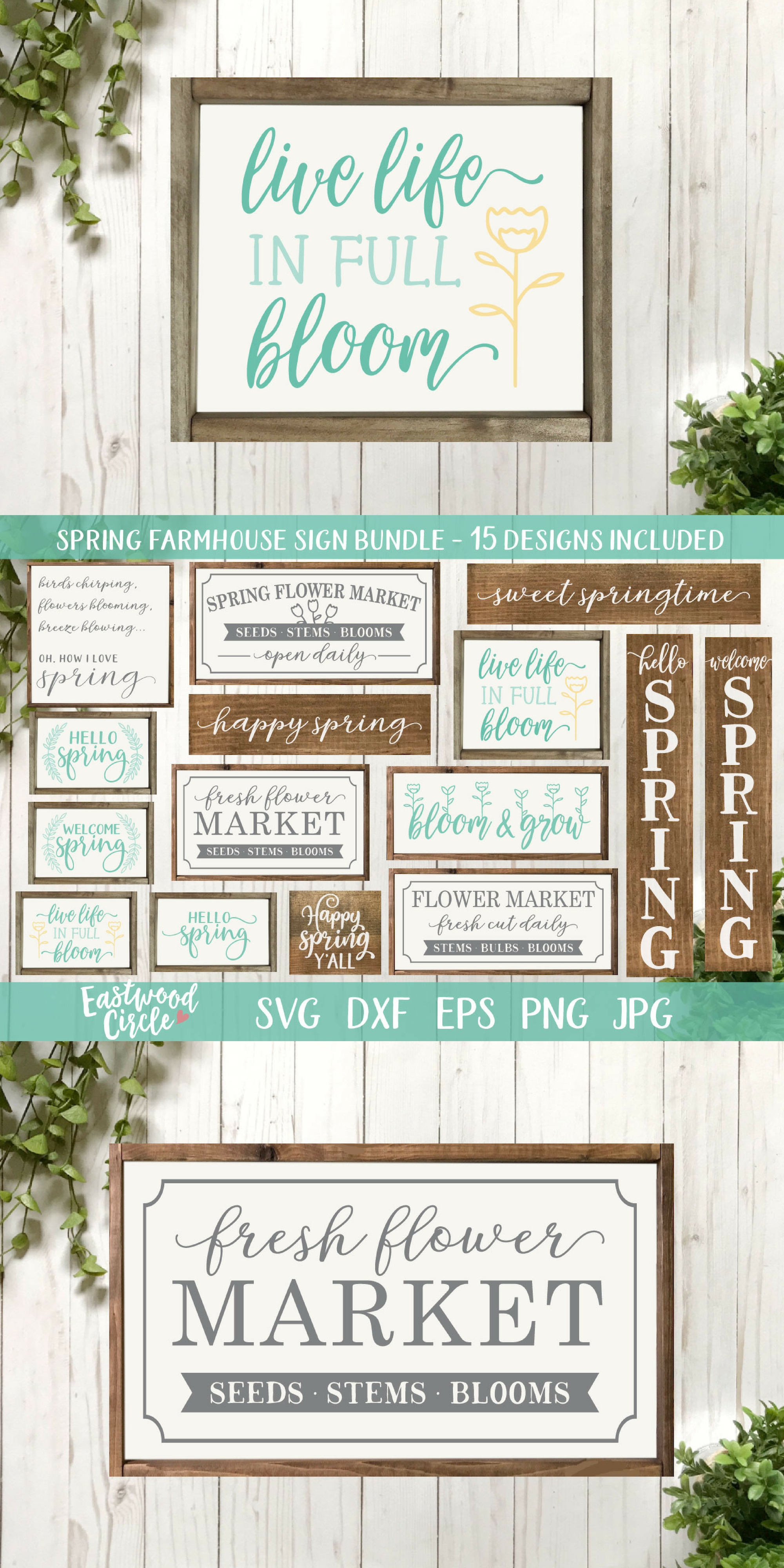 Spring SVG Bundle - Cut Files for Signs example image 17