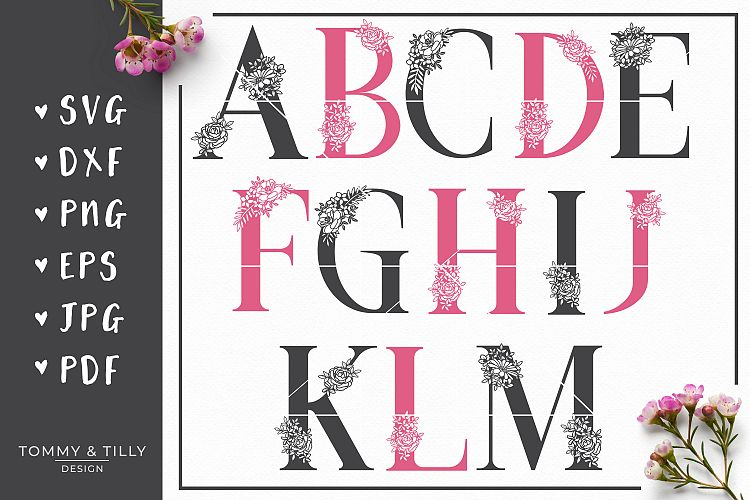 MEGA BUNDLE! 6 x Alphabet Cut Files - SVG | Papercut example image 14