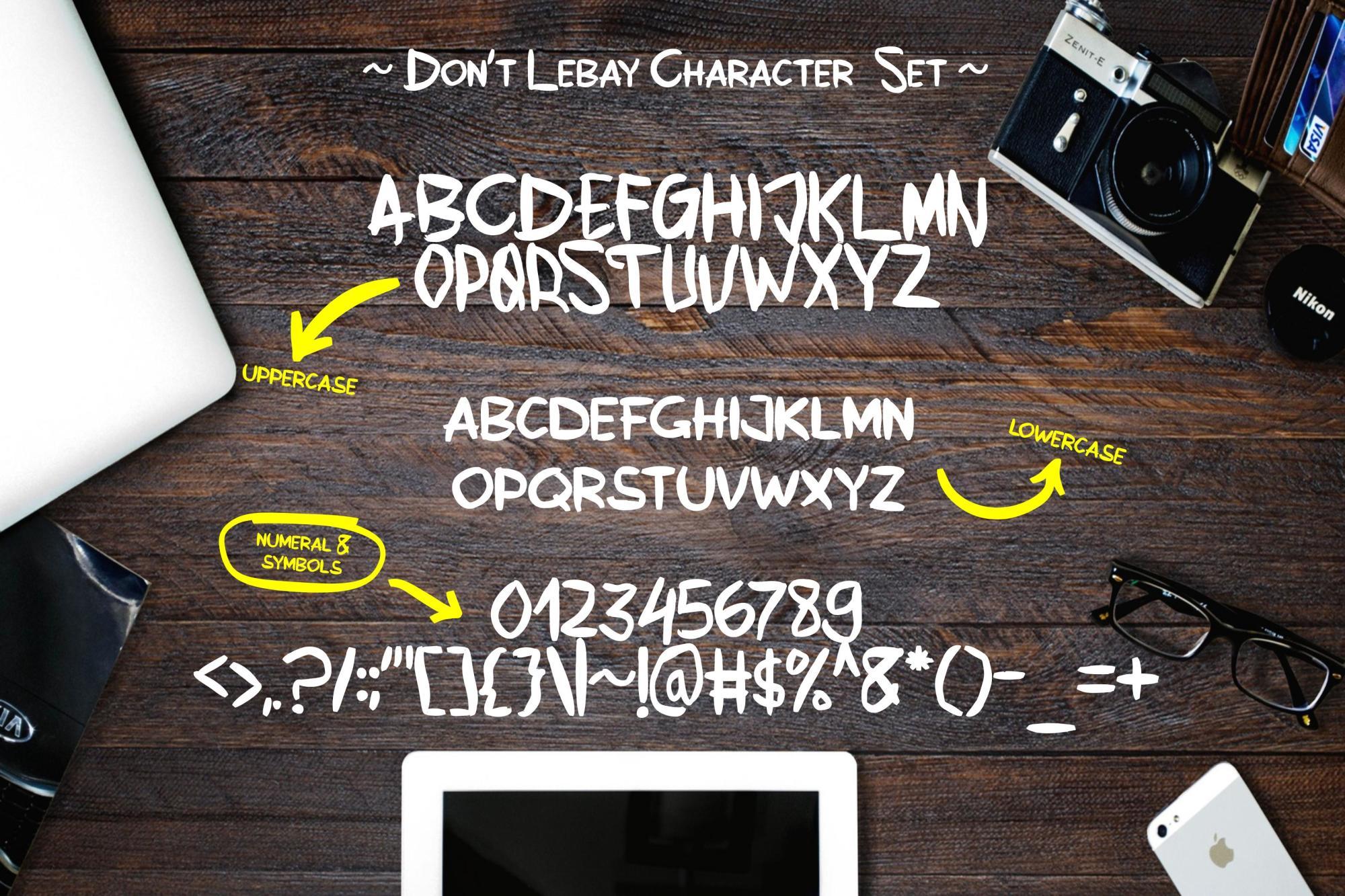 Don't Lebay | A Handbrused Typeface example image 6