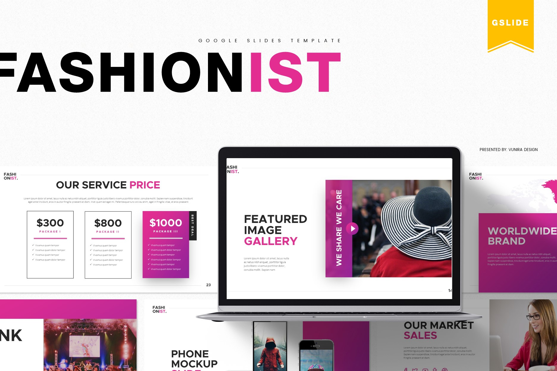 Fashionist   Powerpoint, Keynote, GoogleSlides Template example image 3