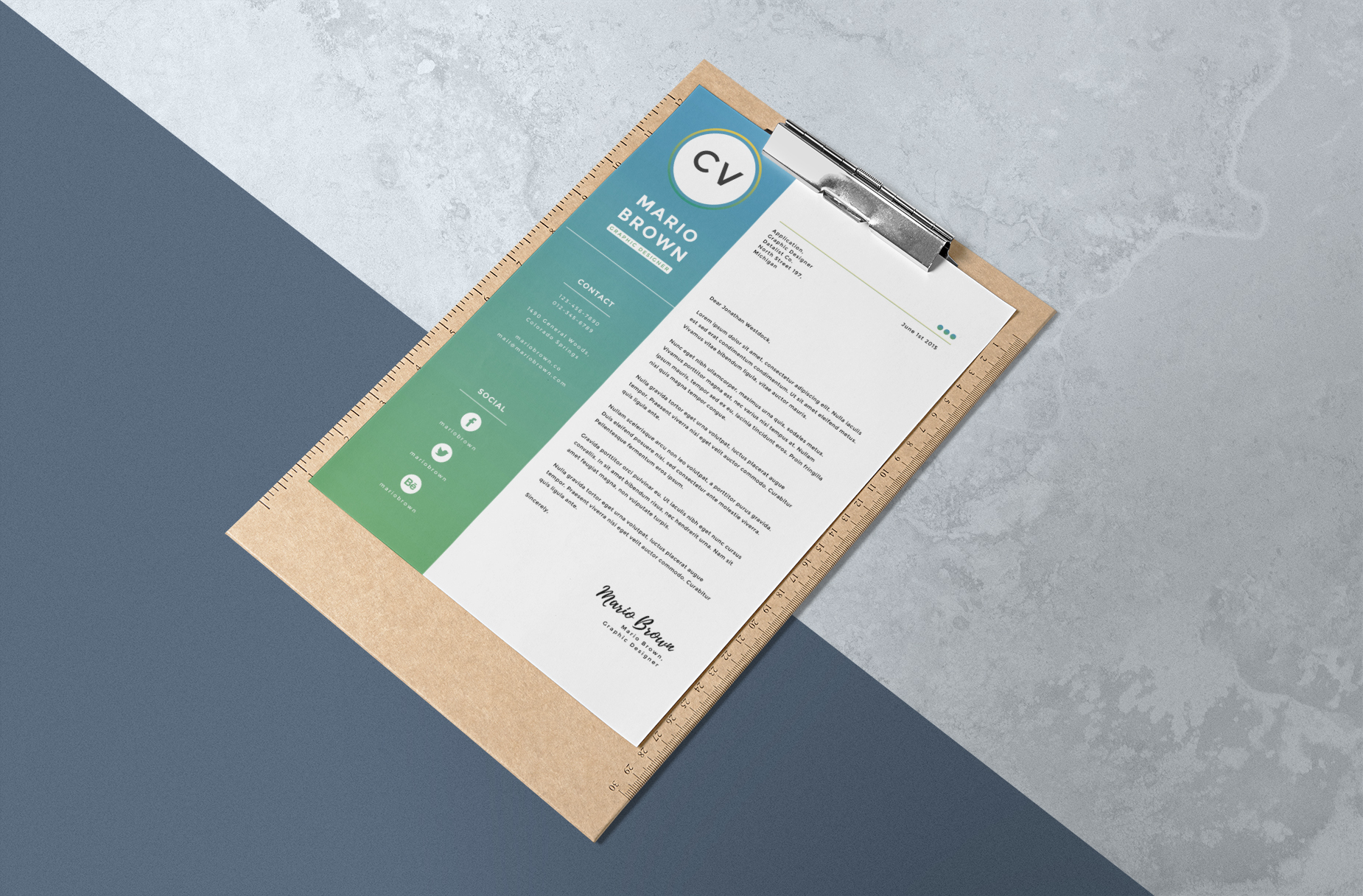 Resume Template 3 pages   CV example image 3