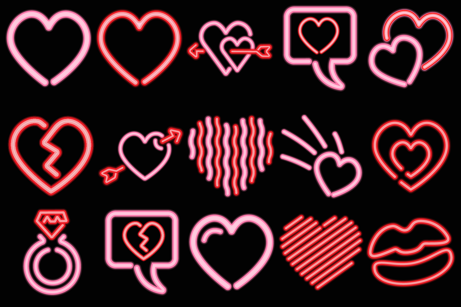 Neon Heart Collection example image 3