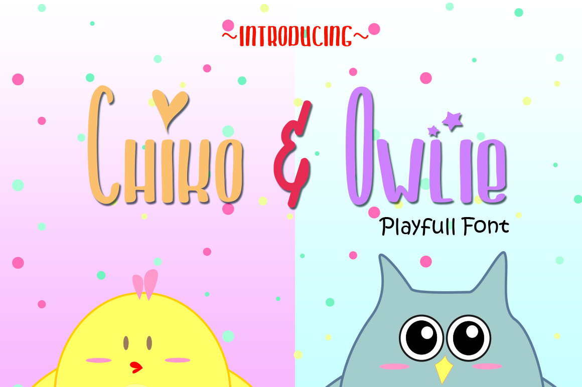 Chiko & Owlie - Extra Cute Graphic example image 1