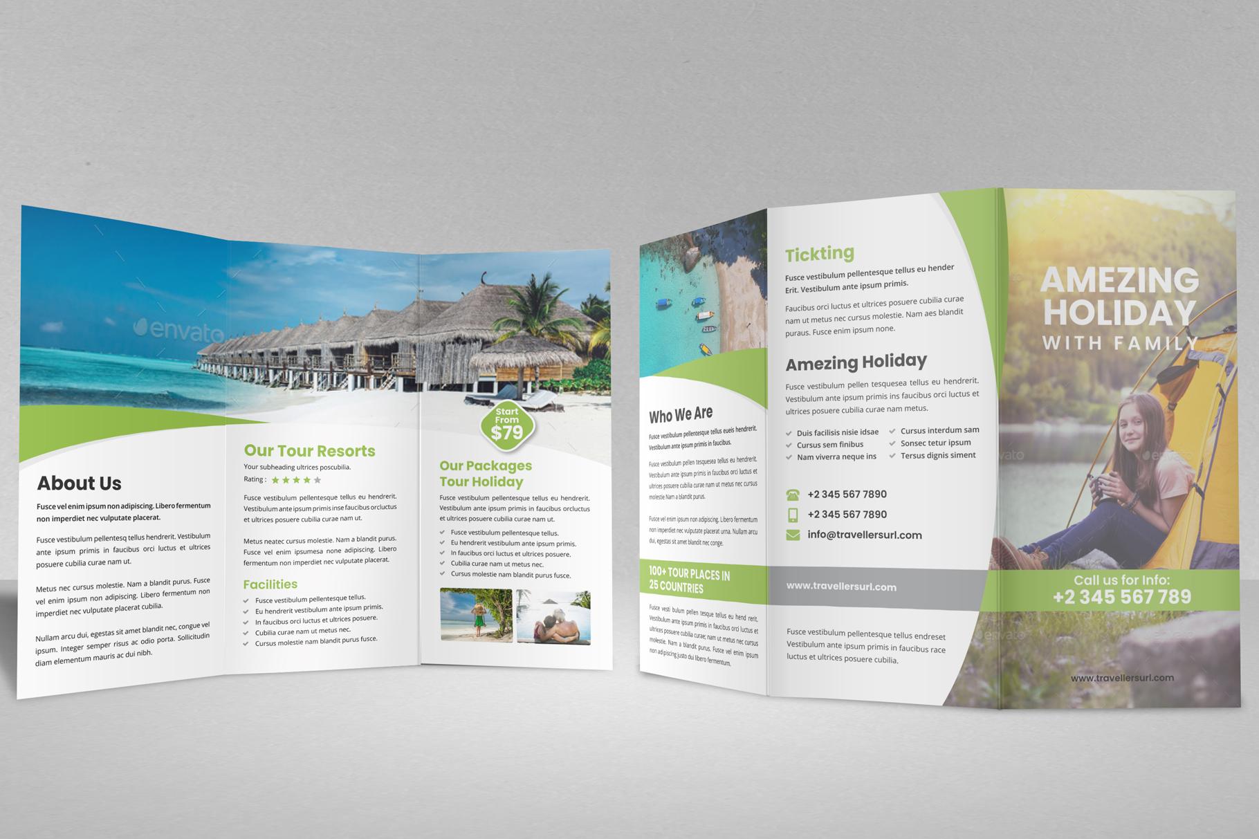 Travel Resort Trifold Brochure v3 example image 2