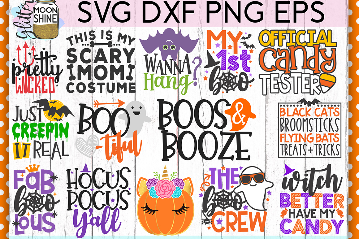 Huge Halloween Bundle of 44 SVG DXF PNG EPS Cutting Files example image 2