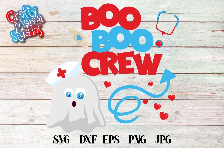 Boo Boo Crew Halloween SVG Sublimation, Nurse Doctor SVG example image 2