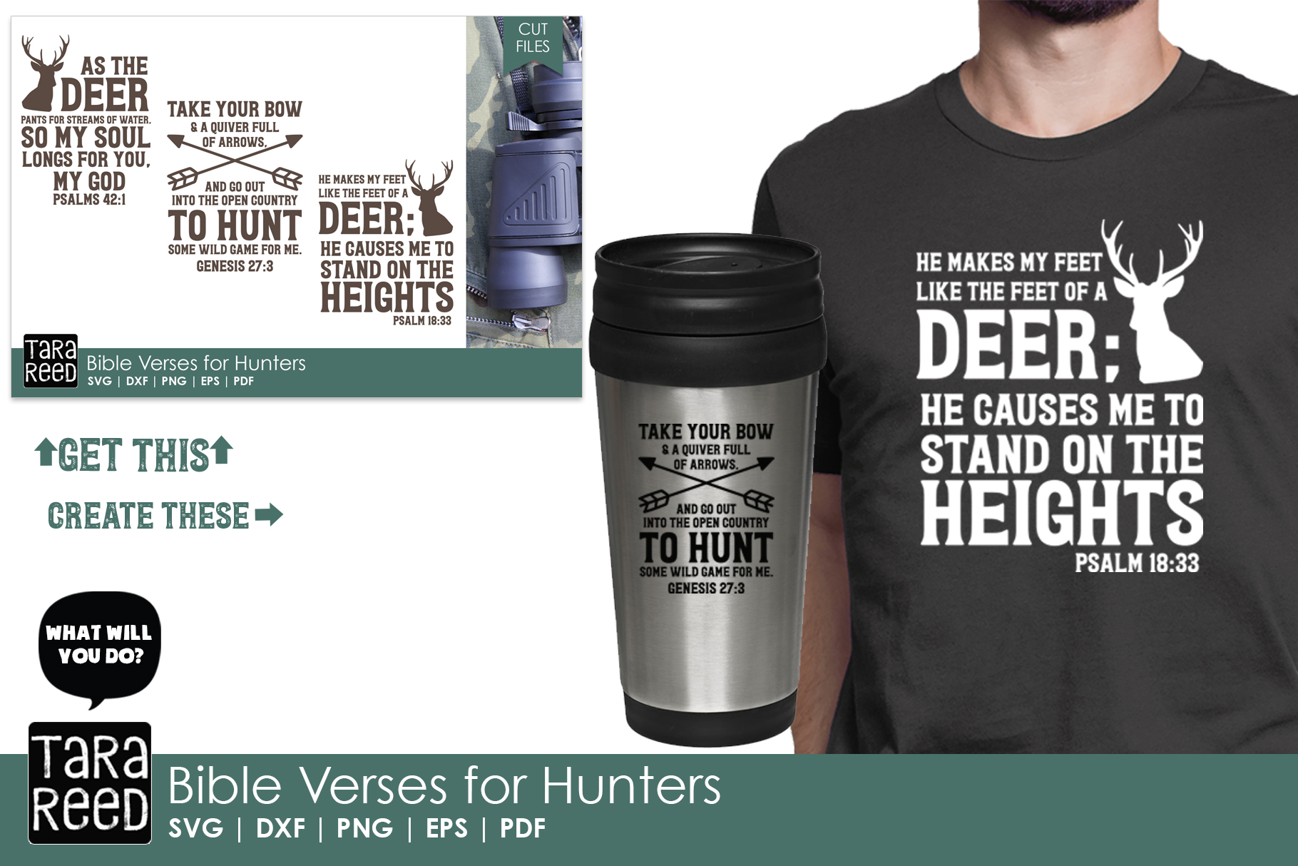 Bible Verses for Hunters - Hunting SVG and Cut Files example image 2