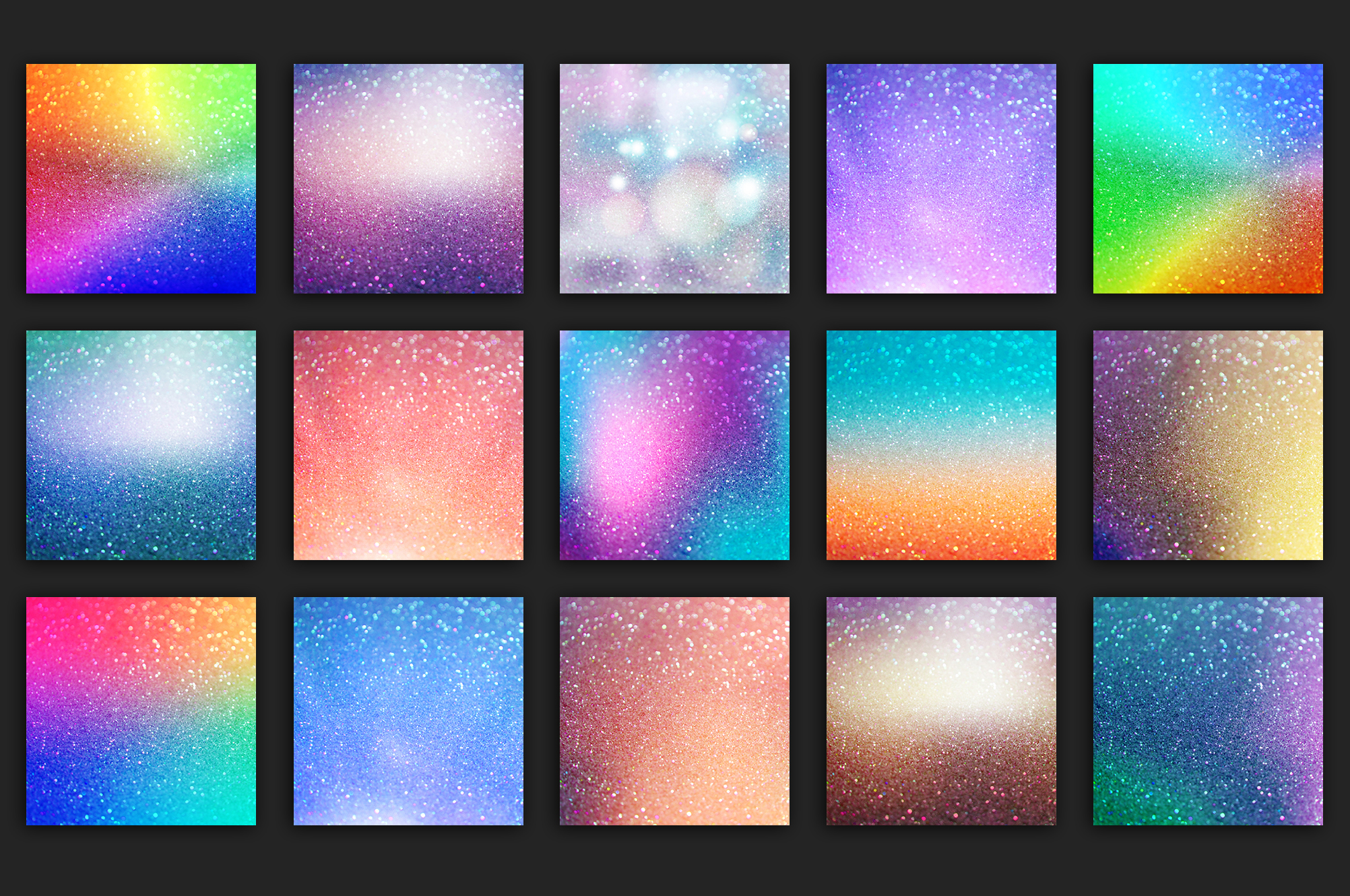 Iridescent 95 Glitter Textures Holographic Backgrounds example image 11